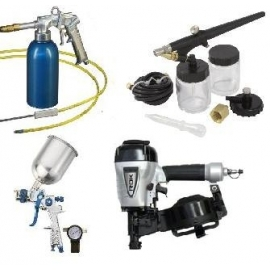 Air Nailers, Air Brush, Air HVLP Guns and Air Under Coating Guns