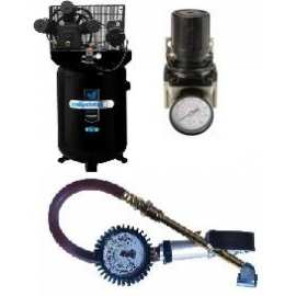 Air Compressors, Air Regulators and Air Tire Gauges