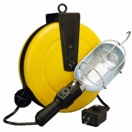 Incandescent retractable cord reel work light with outlet and incandescent retractable cord reel work light with outlet and circuit breaker publicscrutiny Images