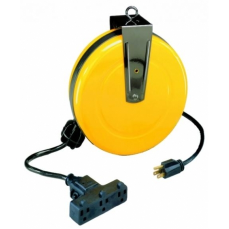 Retractable Extension Cord Reel >> Retractable Extension Cord Reel W Tri Tap Baysl800 Centre Outils