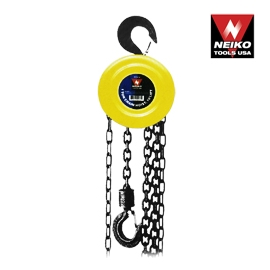 1 TON CHAIN BLOCK / HOIST, 20 FOOT LIFT, CHAIN DIA : 1/4INCH