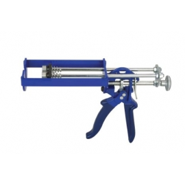 Dual cartridge epoxy caulking type gun