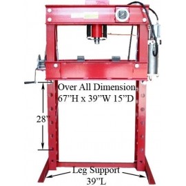 45 TON AIR HYDRAULIC FLOOR SHOP PRESS(40655)