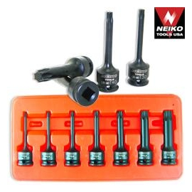 7PC 3/8 INCH TORX IMPACT SOCKET SET (01132B)