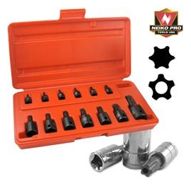 13PC.IMPACT STAR SOCKET SET (10281B)