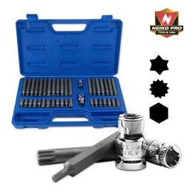 40PC INDUSTRIAL S2 POWER HEX SOCKET BIT SET (10280B)
