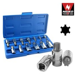 13PC RIBE BIT SOCKET SET (10084A)