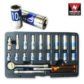 22PCS 1/4 INCH SOCKET SET MM (02494A)