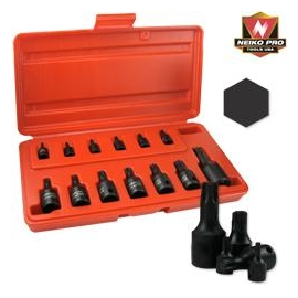 14PC. SAE IMPACT HEX SOCKET SET 14 PC (01142B)
