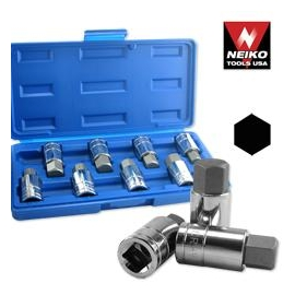 HEX SOCKET SET MALE SAE / MM (01140B)
