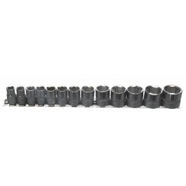 3/8 INCH DRIVE 13PC SHALLOW SOCKET SET SAE (71124CP)