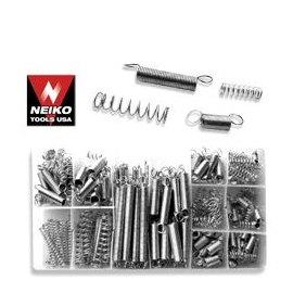 200pc Spring Assortment- Spring Steel, Zinc Plated (50456)