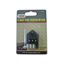 4 Way Flat Tester w/ LED (16689)