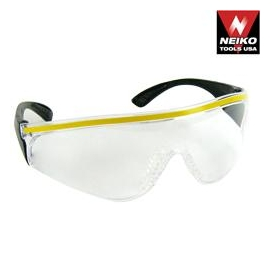 DESIGNER SERIES WORKING SAFETY GLASSES - CLEAR STRIPE (56305)