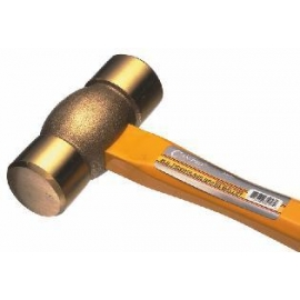 brass mallet 2 pounds w/ fiberglass handle (705506)