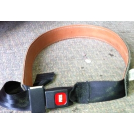 Dura Cuir Leather Belt With Seat Belt Clip SMALL (DC777S)