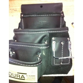 Dura Cuir 4 pocket Construction pouch with hammer holder LEFT (p412)