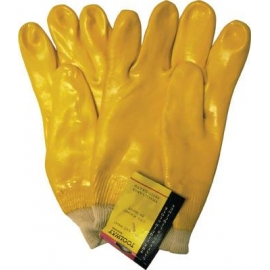 105520- Gloves Latex H/D PVC Knitted Wrist (105520)