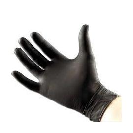 Black Nitrile Gloves Powder Free 8mm Thick 50pc (105548)