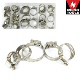 34pc Hose Clamp Assortment Stainless Steel (50422a)