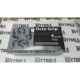 6mm octogrip disposable work gloves, black with dotted grips. Box of 90 gloves X Large OCGRIPXL