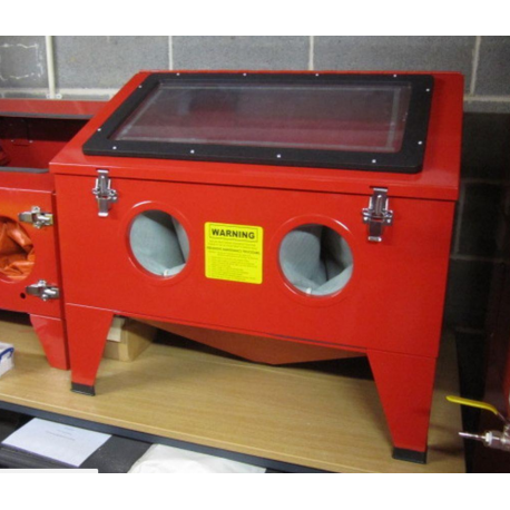 Bench Top Sand Blast Cabinet Sbc190 Ideal For Small Parts Or Glass Etching Centre Outils Plus