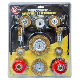 733338- Wire Wheel and Cup Brush 13pc Set
