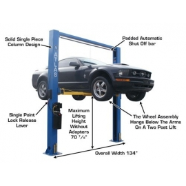 Atlas 9OHSC (SS) Auto Lift 9,000 lbs. Capacity 2 Post Lift