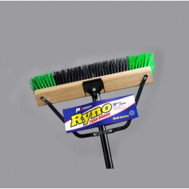 270024- Push Broom 24in With Brace & Handle ( GREEN +BLACK)
