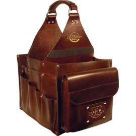 187041- Leather 23 Pocket Tote Bag - Prestige