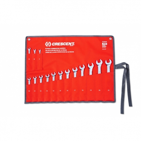Wrench set 15pc mm 7 to 21mm inclusive CCWS5