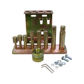 9 pc. Press Pin/Punch Kit With Holder Bracket For Dynamo Air/Hydraulic Shop Presses (spak)