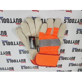 High quality high visibility leather work gloves FC31-HV11